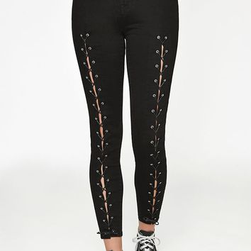 PacSun Orchid Black High Rise Jeggings at PacSun.com