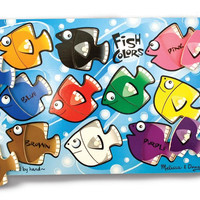 Melissa & Doug - Fish Colors Mix n Match Peg