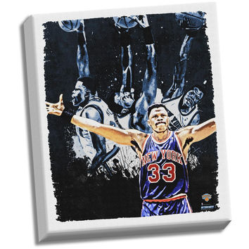 Patrick Ewing Dark 22x26 Stretched Canvas