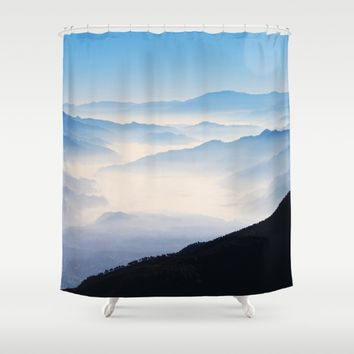 Inhale Shower Curtain by Mixed Imagery