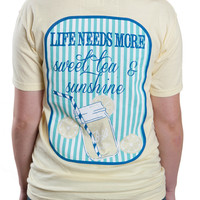 'Life Needs More Sweet Tea & Sunshine' Pocket Tee