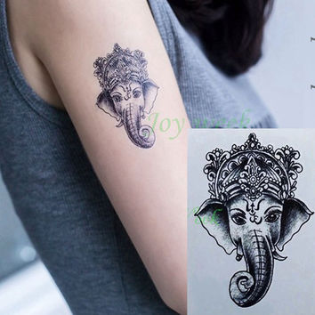 Waterproof Temporary Tattoo Sticker 10.5*6 cm elephant tattoo Ganesha Water Transfer fake tattoo flash tattoos for girl women
