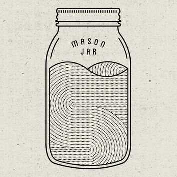 Mason Jar Art Print by Jeremy Scott Booth