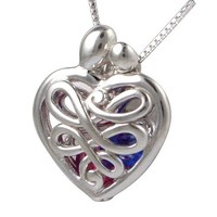 Loving Family Sterling Silver Mother's Heart Birthstone Locket, Small