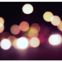 Abstract bokeh photography - Sweet Sparkles - purple wall decor, circles, colorful, city - 8x10 print