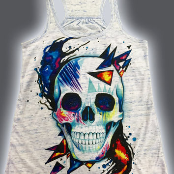 Premium Space Skull Girls Tank