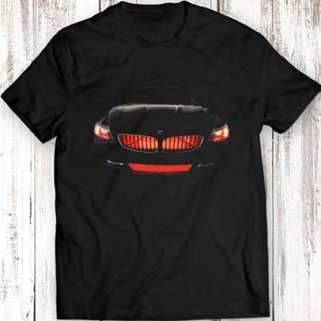 BMW Z4 T-Shirt Women Men Gift Idea Present Headlights Glow Tuning Black T Shirt Garment Apparel