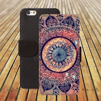 mandala colorful ball iphone 5/ 5s iphone 4/ 4s iPhone 6 6 Plus iphone 5C Wallet Case , iPhone 5 Case, Cover, Cases colorful pattern L013