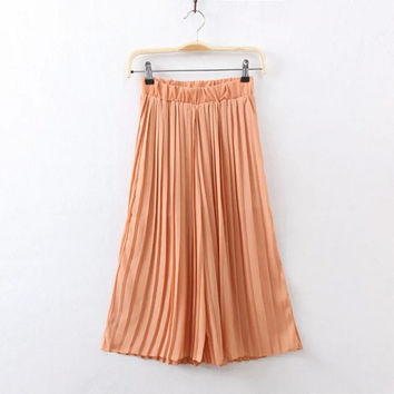 Summer Women's Fashion Chiffon Dress High Rise Casual Pants [4917774852]