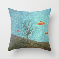 Do Fishes Dream? Throw Pillow by ARTsKRATCHES