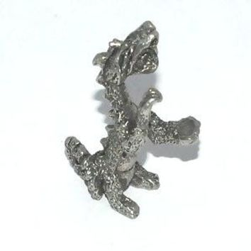 Attacking Dragon pewter figurine  Lead Free.