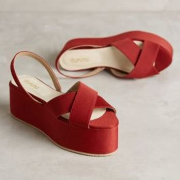 Vanina Julia Satin Flatforms