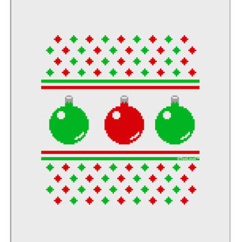 Ugly Christmas Sweater Ornaments Aluminum Dry Erase Board