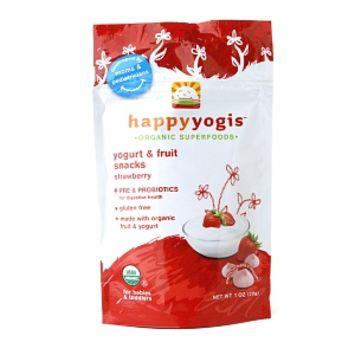Happy Yogis Organic Yogurt & Fruit Snacks, Strawberry