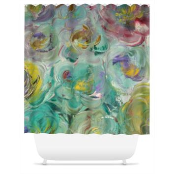 Floral Rhapsody Design - Shower Curtains