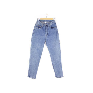 "90s new york high waisted jeans / vintage 1990s / size 10 / 27"" waist"