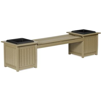 Leisure Lawns Amish Made Recycled Plastic Planter Bench Model #950 - Ships FREE within 2 to 3 Weeks
