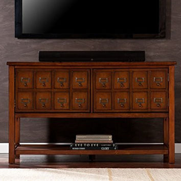Apothecary Console/TV Stand - Brown Mahogany