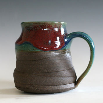 Pottery Coffee Mug, 17 oz, handmade ceramic cup, handthrown mug, stoneware mug, pottery mug, unique coffee mug, ceramics and pottery