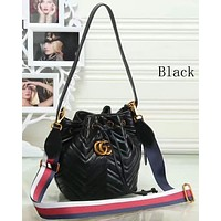 GUCCI women's new trend bucket bag F-LLBPFSH Black