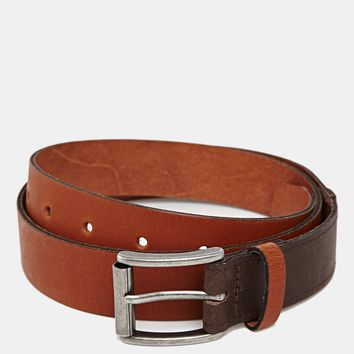 ASOS Leather Belt with Contrast