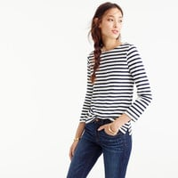 Striped boatneck T-shirt