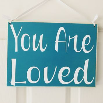 10x8 You Are So Loved Wood Sign