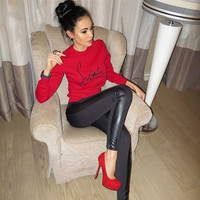 Casual long-sleeved round neck sweater