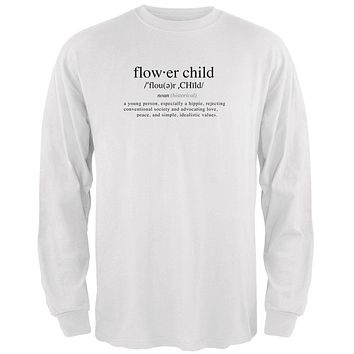 Flower Child Definition Mens Long Sleeve T Shirt