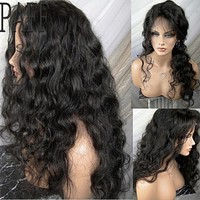 Loose Wave Lace Front Human Hair Wigs Glueless Brazilian Remy Hair Frontal Wigs With Baby Hair Pre Plucked Bleached Knots