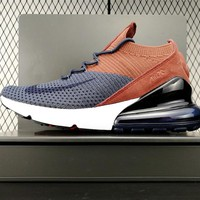 Nike Air Max 270 Flyknit Brown/dark Blue Ao1023-004 - Beauty Ticks