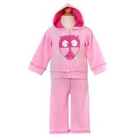 Amazon.com: Baby Togs Newborn Girls Pink Velour Track Suit 6-9M: BT Kids: Clothing