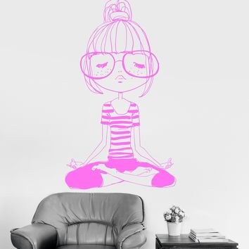 Vinyl Wall Decal Yoga Meditation Teen Girl Room Zen Stickers Mural Unique Gift (ig3276)