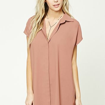 Button-Front Shift Dress