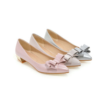 Womens High Heel Shoes Pointed Toe Bow Lady Pumps Party Dress Shoes
