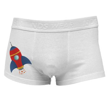 Space Rocket Ship and Stars Side Printed Mens Trunk Underwear by TooLoud
