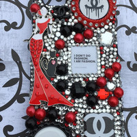 Fashion red lady phone case