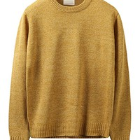 HARRISON83 Mens Round Crew Neck Casual Cable Knit Pullover Sweater