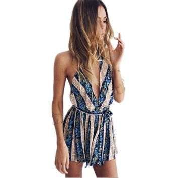 Summer Sexy Tops Bodysuit Fashion Romper Jumpsuit Playsuit Body Club Clothes Pants Overall For Women