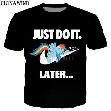 New summer tops Cartoon /My Little Pony t shirt men/women 3D print t-shirts casual Harajuku style tshirt streetwearKawaii Pokemon go  AT_89_9