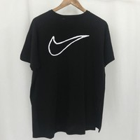 NIKE Back Big Hook Leisure Print Small Letters On The T-shirt B104524-1 Black