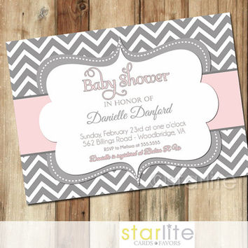 chevron invitations