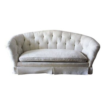 Pre-owned Baker Furniture Hollywood Regency Tufted Sofa