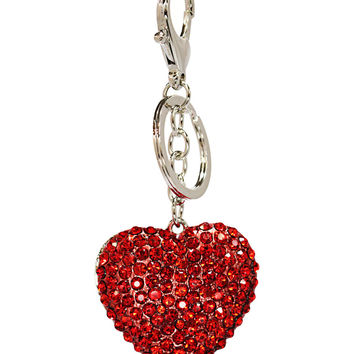 Red Heart Key Chain in Silver – bandbcouture.com