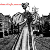Royal Princess Castle manor Abstract printable art prints digital download image graphics black and white artwork