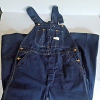 1950s Overalls Powr House Montgomery Ward UNION Indigo Denim Workwear Overalls