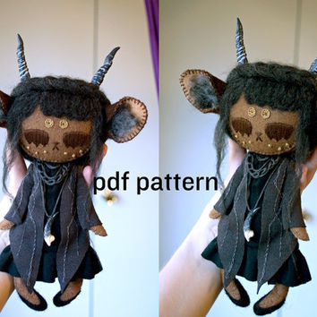 monster doll pattern / human doll pattern / forest doll pattern / sewing pattern NO tutorial