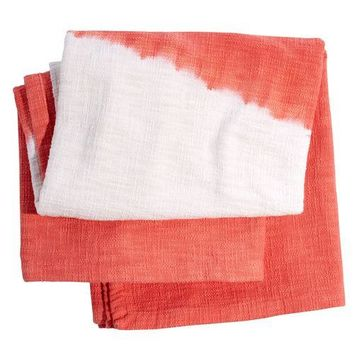 Maneka Coral Dip-Dyed Throw by John Robshaw