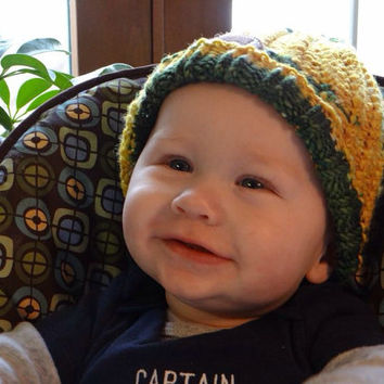 NFL Green Bay Packers Knit Baby Hat / Baby Photo Prop / Made to Order