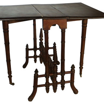 19th-C.  Faux-Bamboo Sunderland Table
